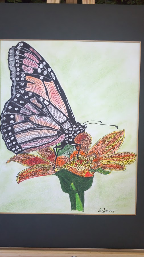 Look At The World -  zentangle butterfly